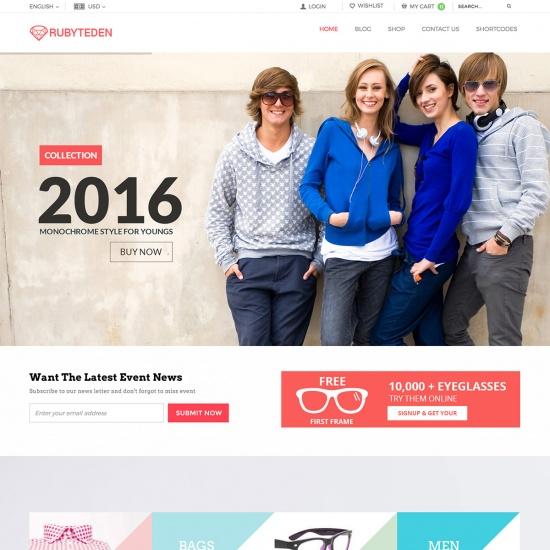 RubyTeden - Responsive WooCommerce Shopfront Theme