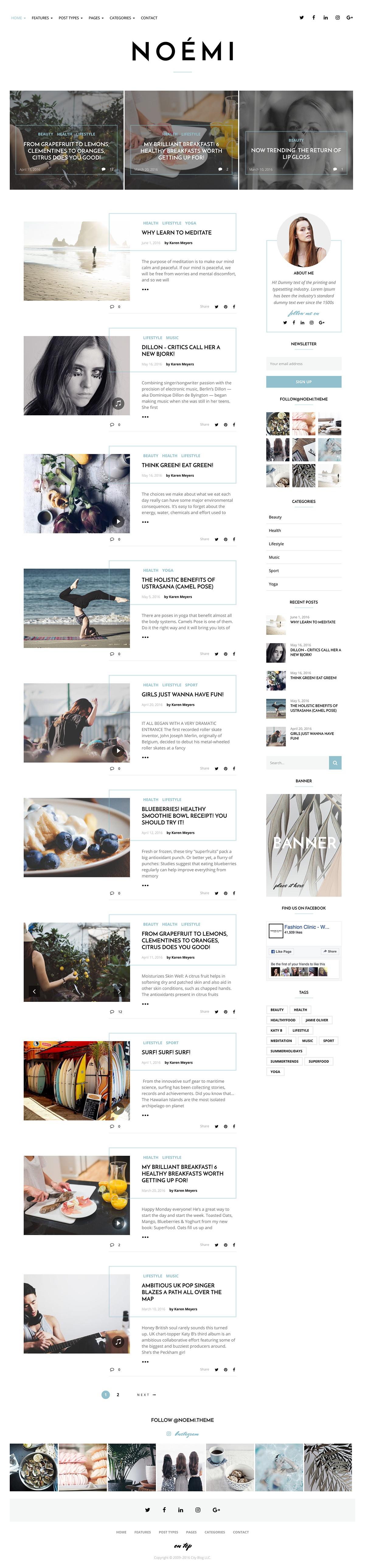 Noemi - Lifestyle Blog Theme