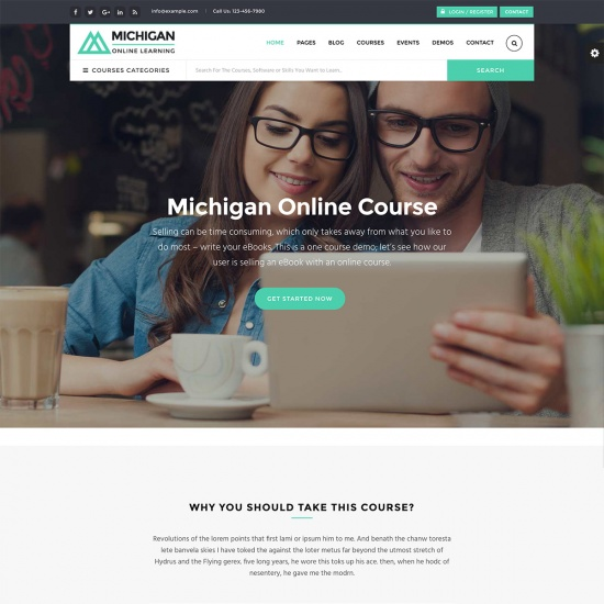 Michigan Learning Suite - All-in-one Education WordPress Theme