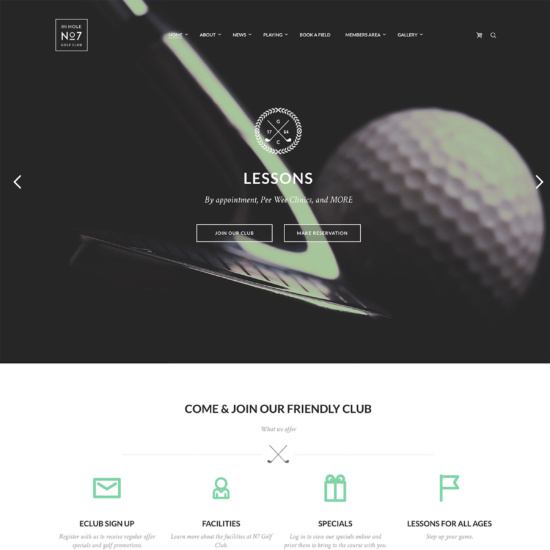 N7 | Golf Club, Sports & Events Theme