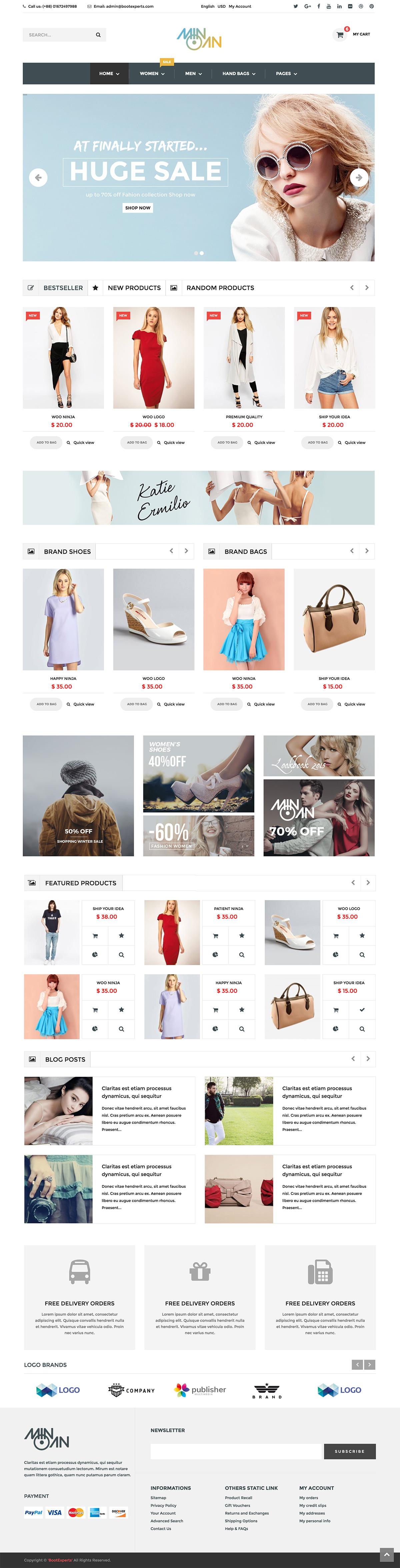 Minoan - Fashion WooCommerce Theme