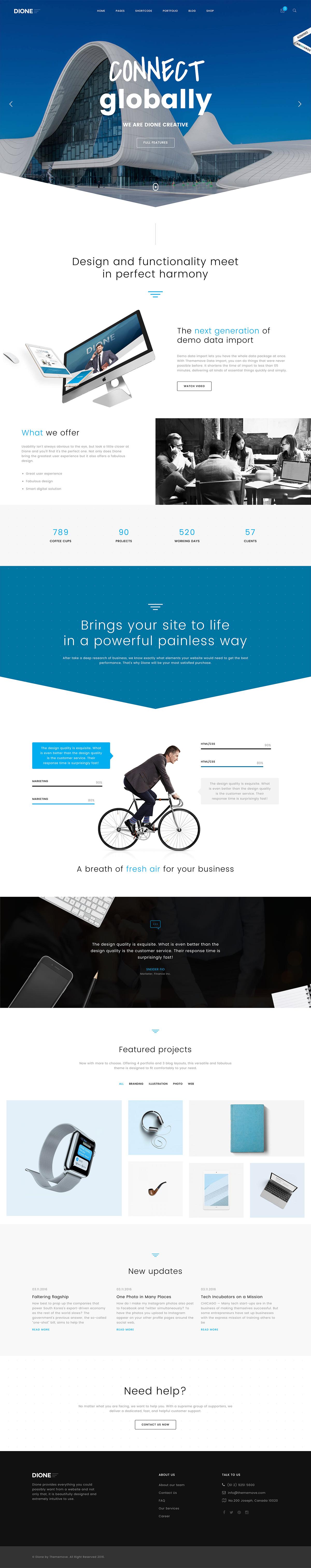 Dione - Enterprise Multi-Purpose WordPress Theme
