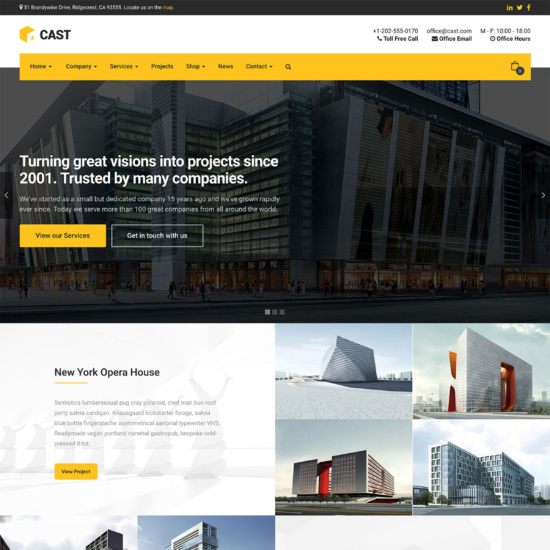 Cast - Construction & Building WordPress Theme