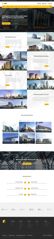 Cast - Construction & Building WordPress Theme
