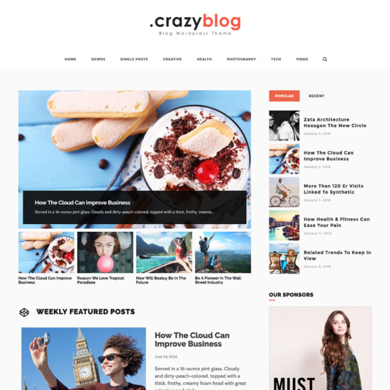 CrazyBlog - Start A Blog or Magazine for Adsense or Affiliate Business