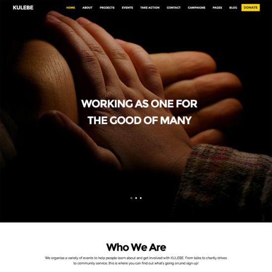 Kulebe - Multipurpose Nonprofit Theme