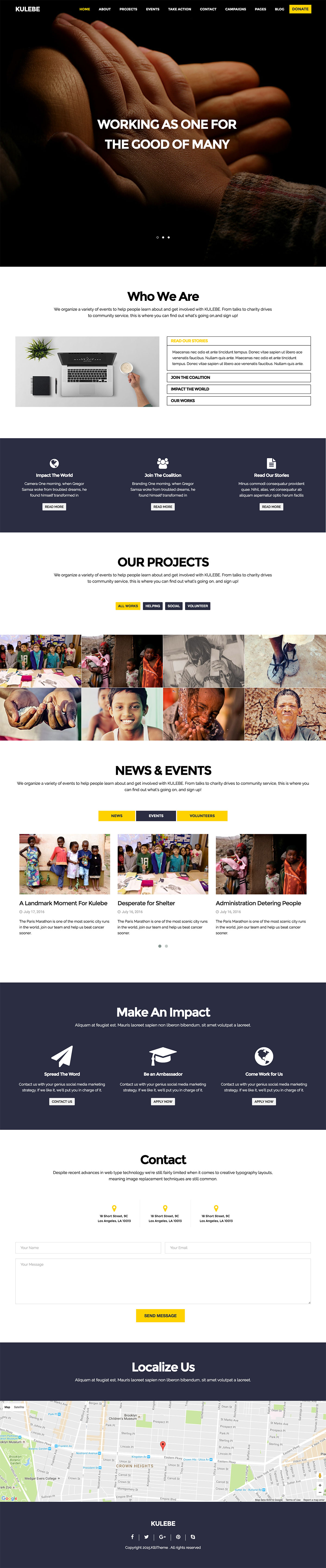 Kulebe - Multipurpose Nonprofit Theme