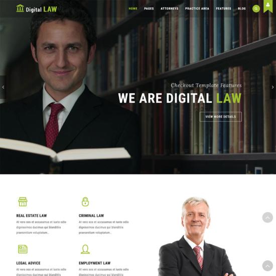 Digital Law - Attorney, Lawyer and Law Agency WordPress Theme