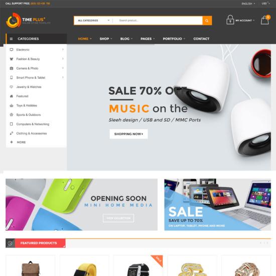 TimePlus - Mega Store Responsive WooCommerce Theme