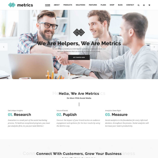 Metrics - SEO, Digital Marketing, Social Media Theme