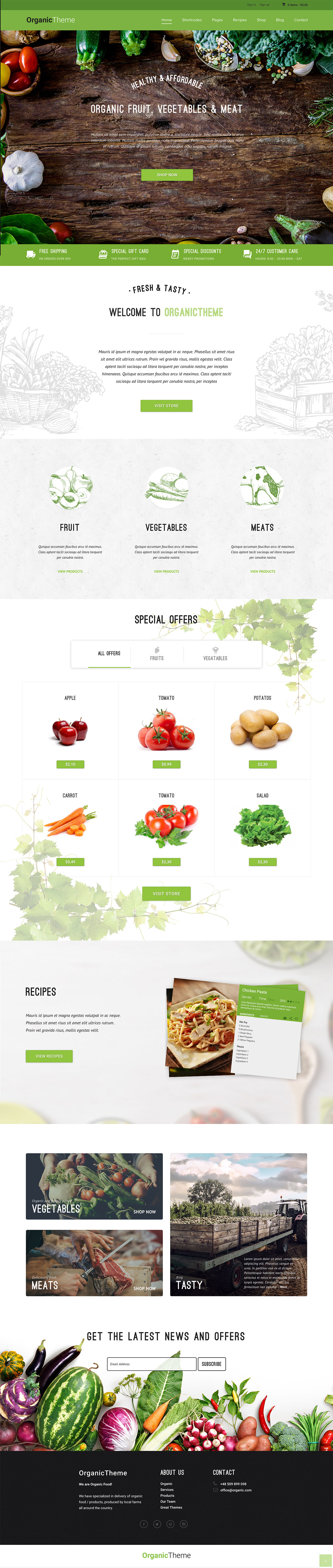 Organic Farm & Food Business WordPress Theme