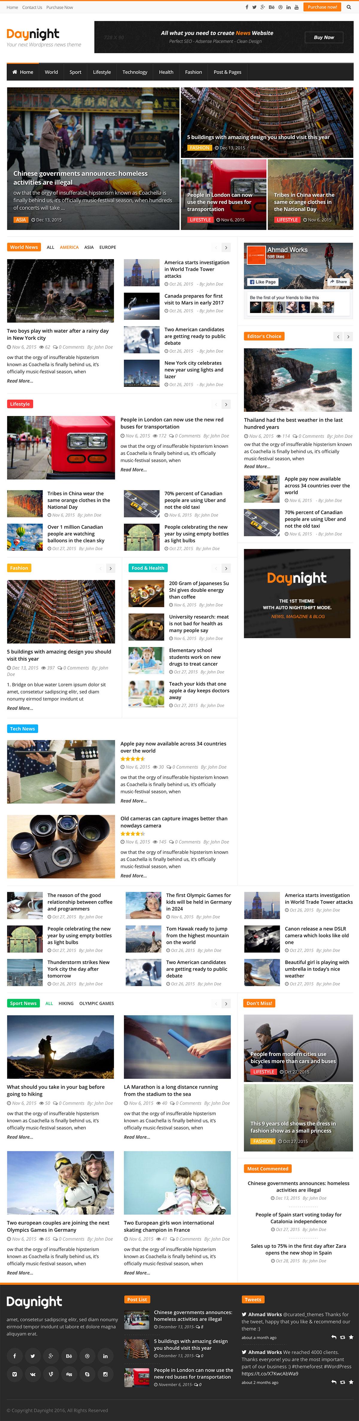 Daynight Magazine - News Magazine Theme
