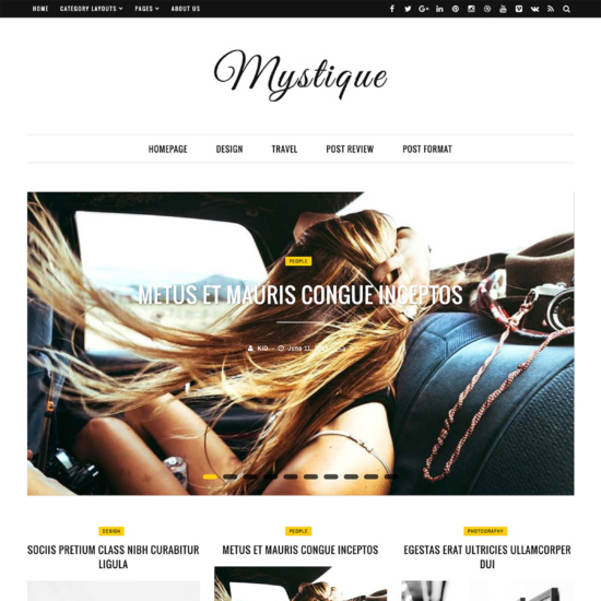 Mystique: Fast - Clean - Flexible WordPress Magazine News Blog Theme