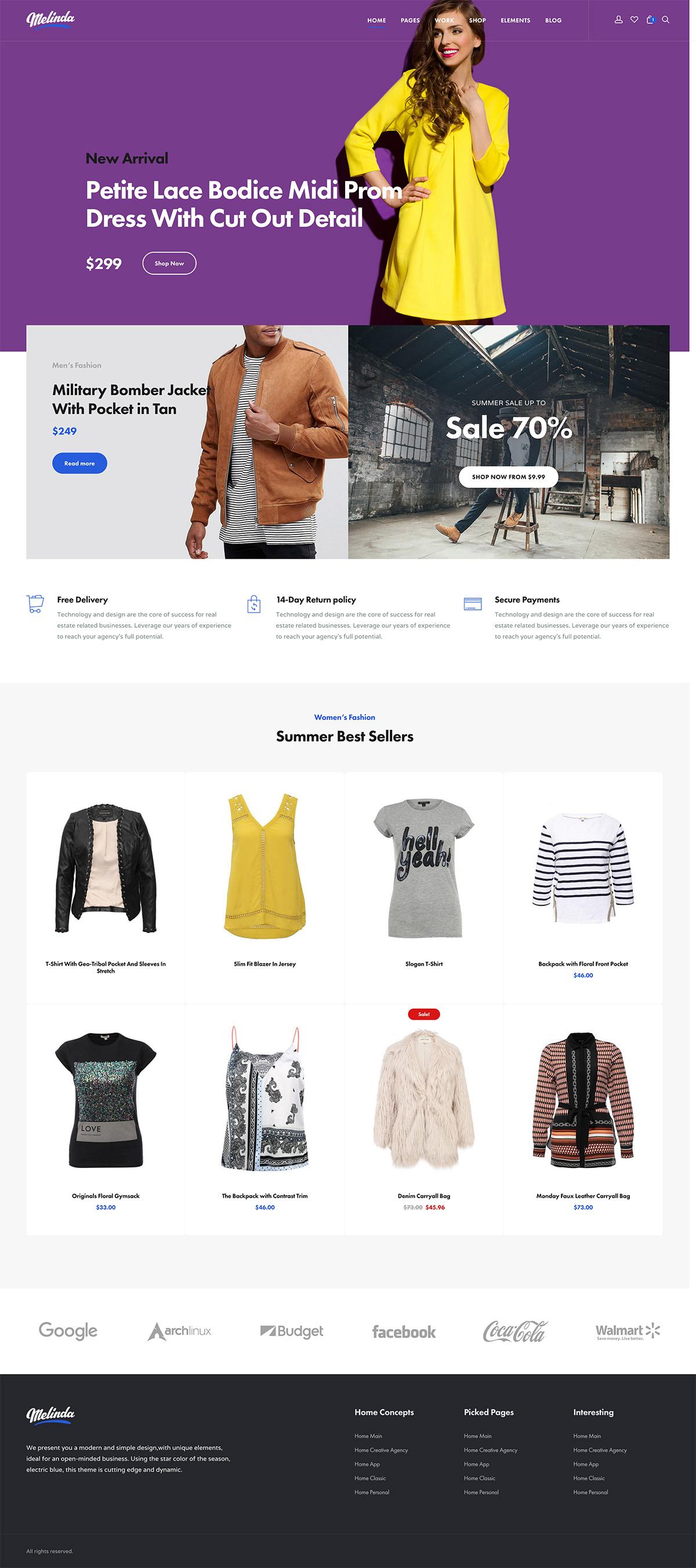 Melinda - Professional Business Multi-Purpose WordPress Theme