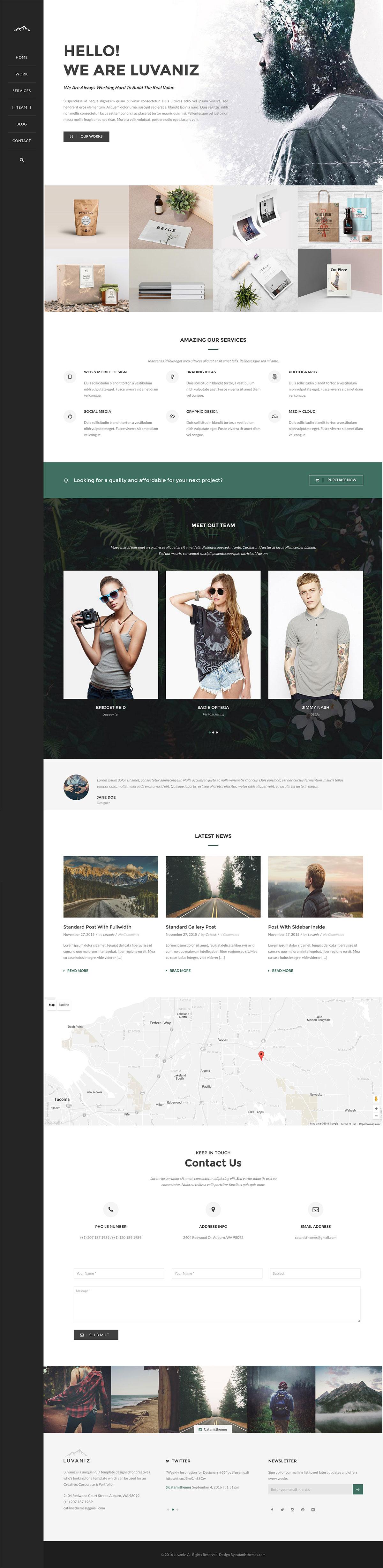 Luvaniz - Creative One Page WordPress Theme
