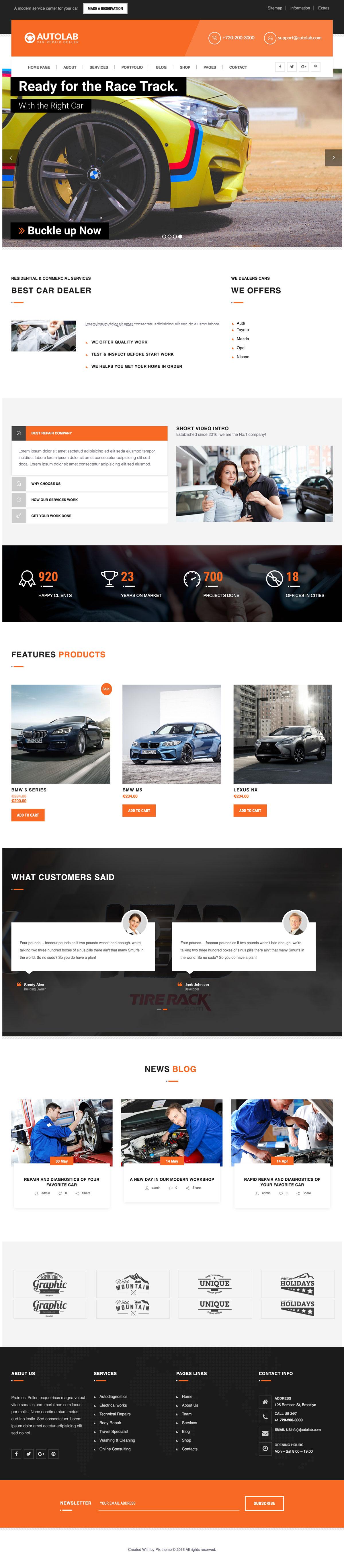 AutoLab - Auto Repair, Car Rental, Cargo & Logistic, Car Dealer Theme
