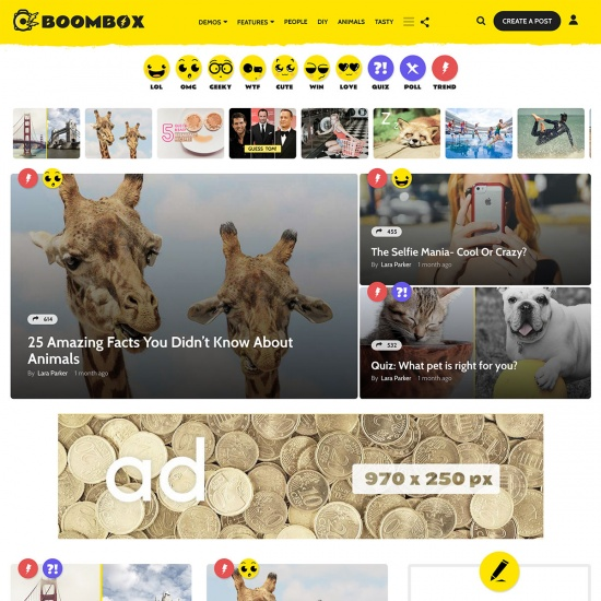 BoomBox — Viral & Buzz WordPress Theme