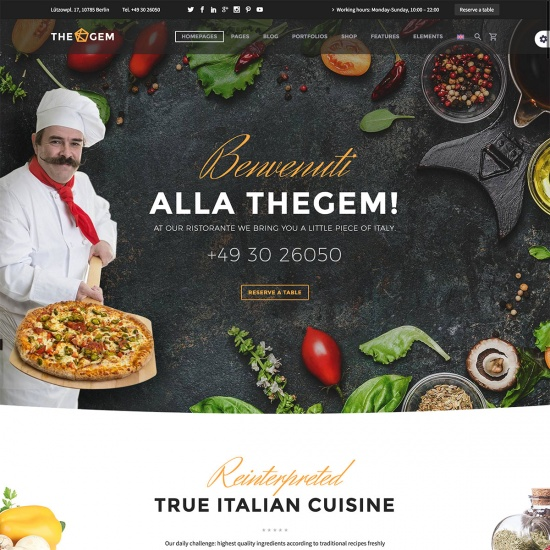 TheGem - Creative High-Performance Restaurant WordPress Theme