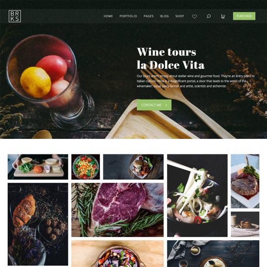 Brooks WP – Creative Organic Food WordPress Theme