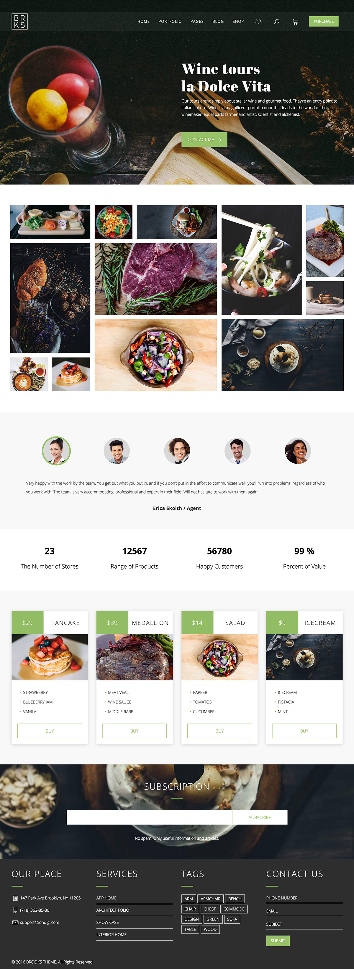 Brooks WP – Creative Organic Food WordPress Theme