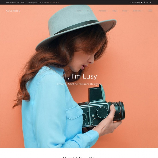 A Contemporary WordPress Theme for Freelancers