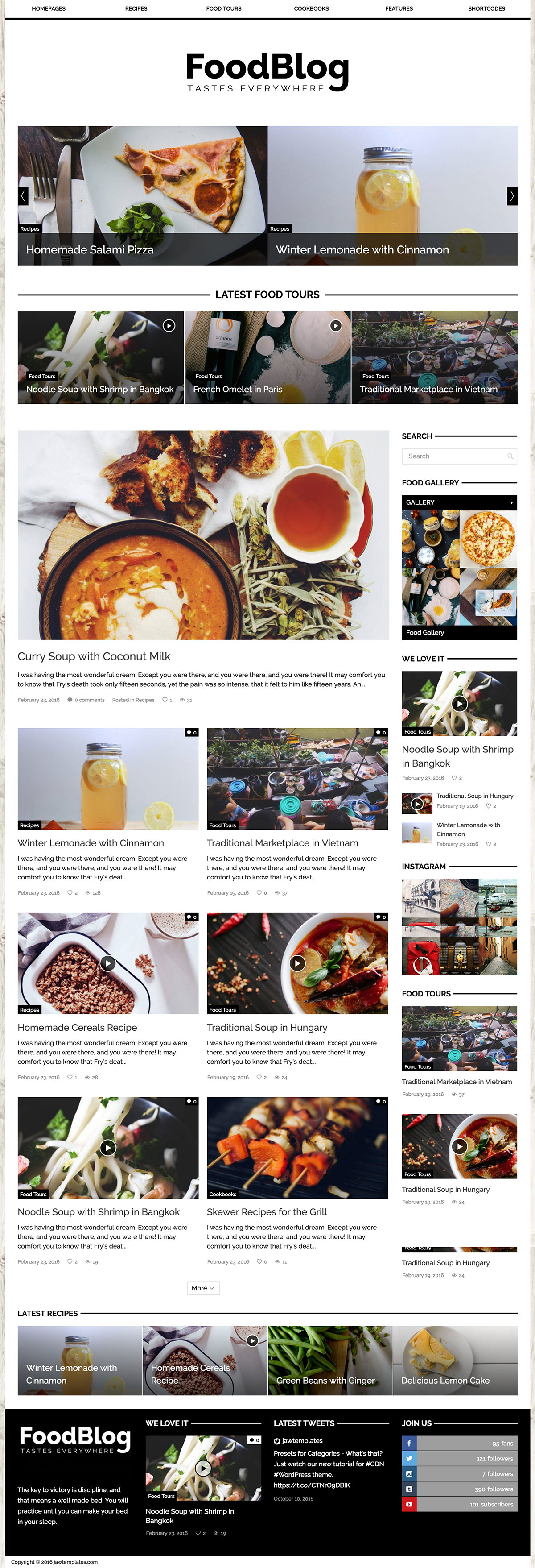 GDN - Food Magazine WordPress Theme