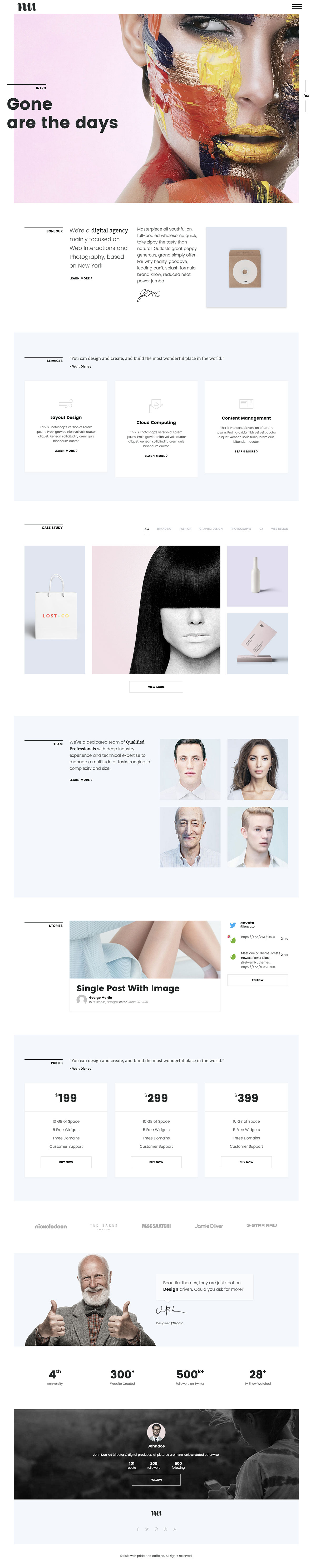 Adios - Portfolio WordPress Theme for Artists, Agencies, Freelancers