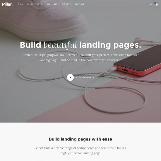 Pillar - Multipurpose Multi-Concept LandingPage WordPress Theme