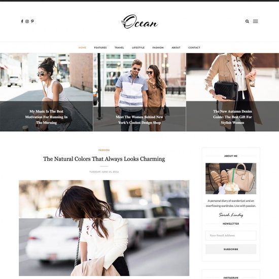 Ocean - Exquisite WordPress Blog Theme