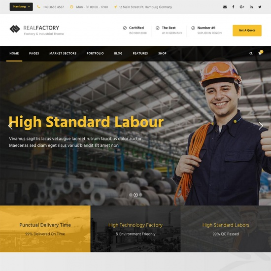 Real Factory - Industrial WordPress Theme