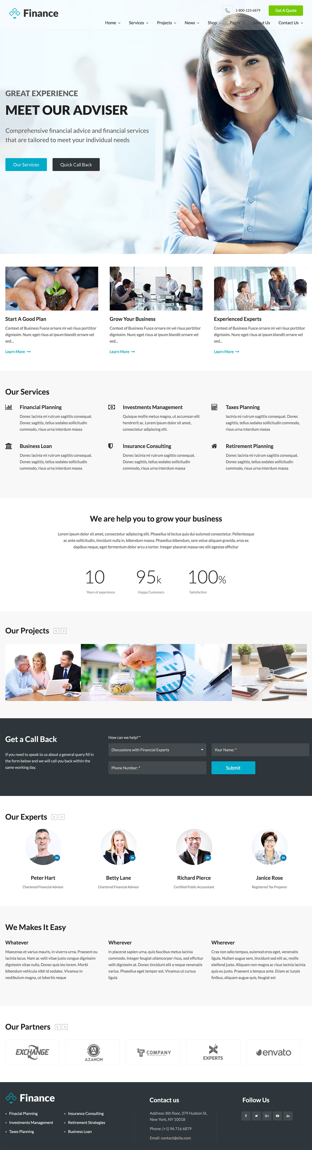 Finance - Accounting WordPress Theme