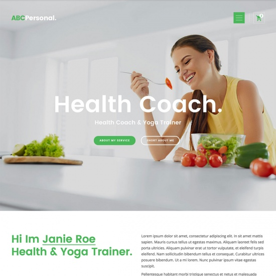 ABC Personal - Health Coach WordPress Theme