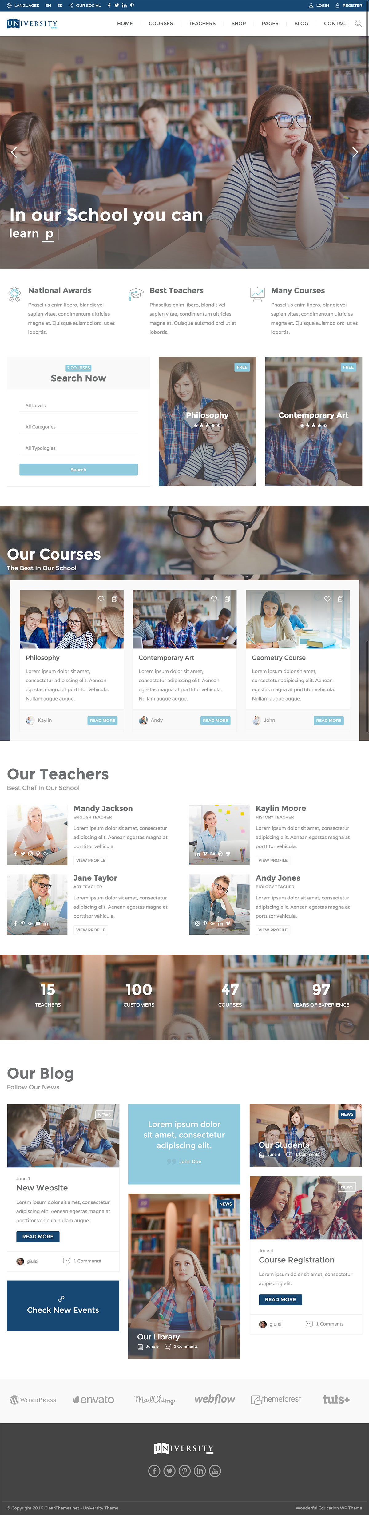 Education Pack - Education Learning WordPress Theme