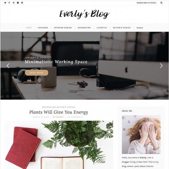 Everly - WordPress Blog Theme