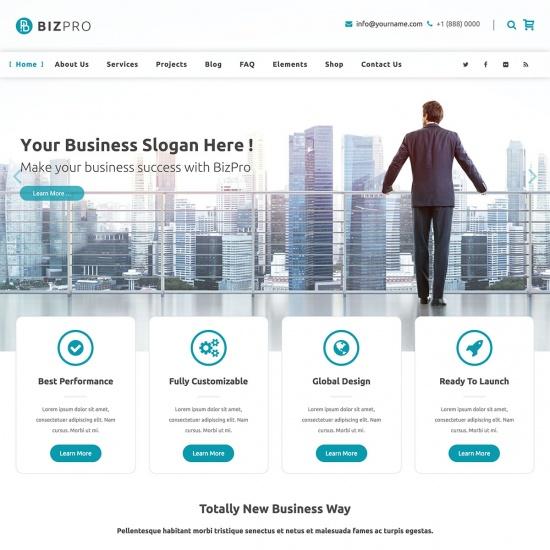 BizPro - Business WordPress Theme + RTL