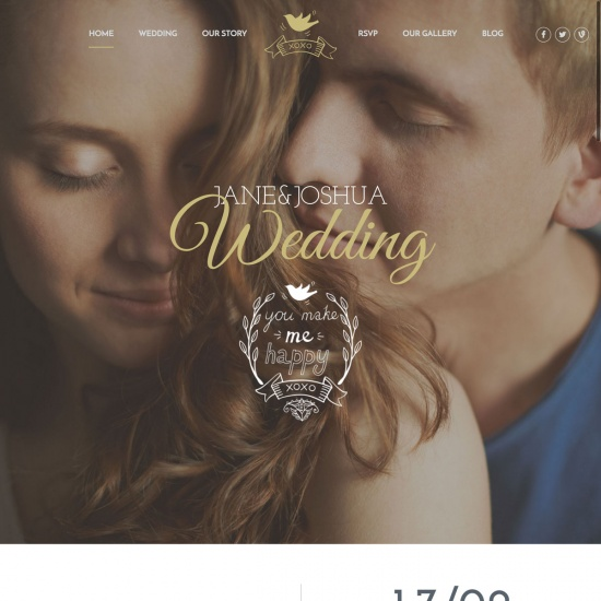 Celebration - Wedding WordPress Theme