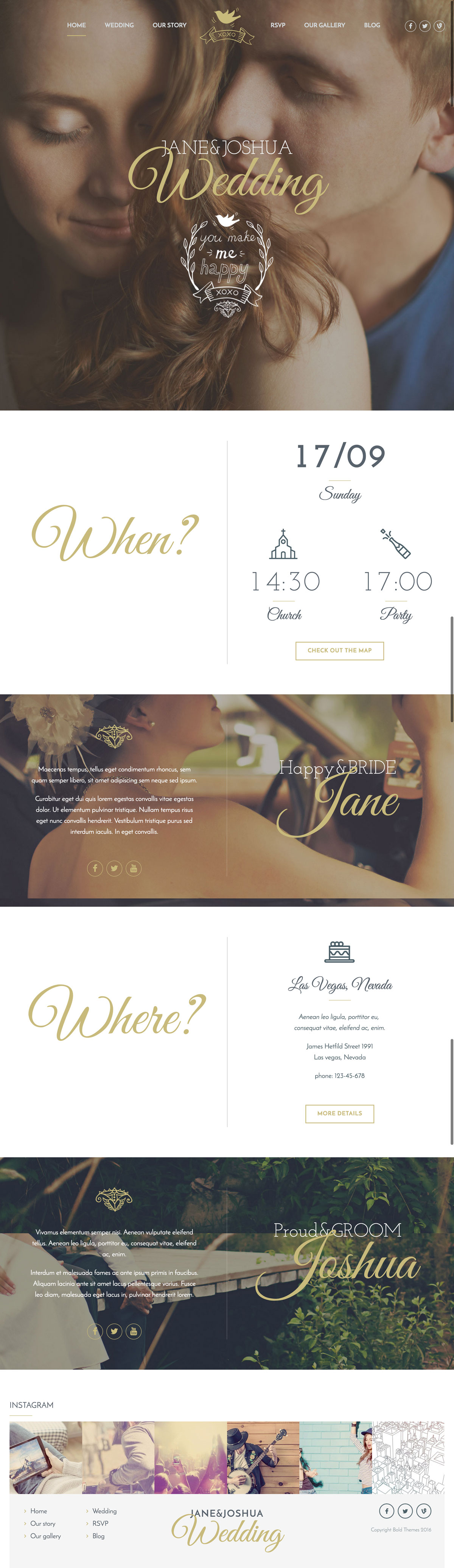 Celebration - Wedding WordPress Theme