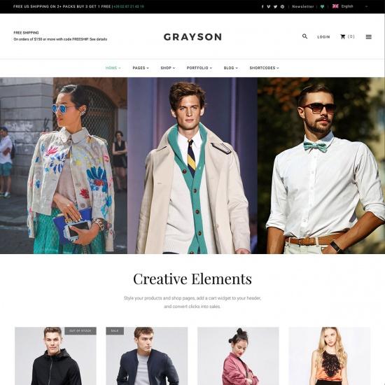 Grayson - A Stylish and Versatile Shop Theme