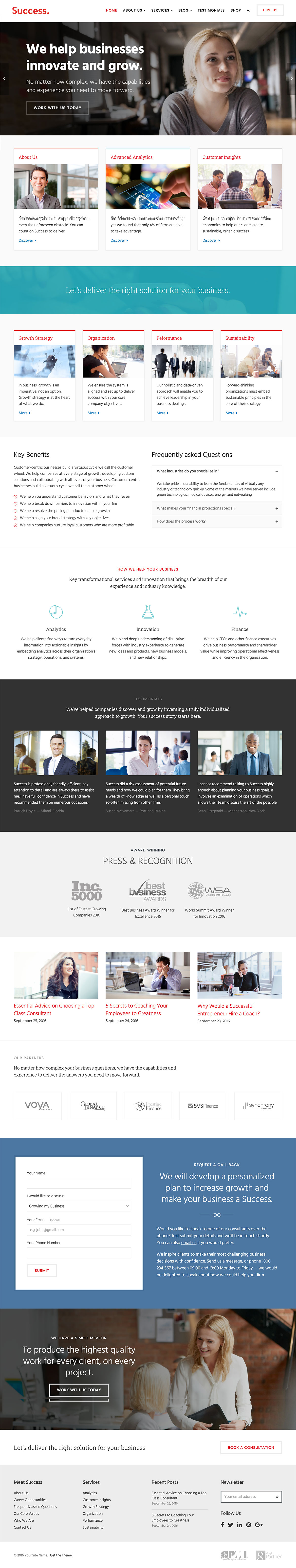 Success - Business and Professional Services WordPress Theme