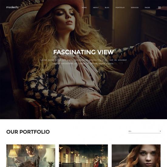Modesto - Portfolio, Photography, Agency WordPress Theme