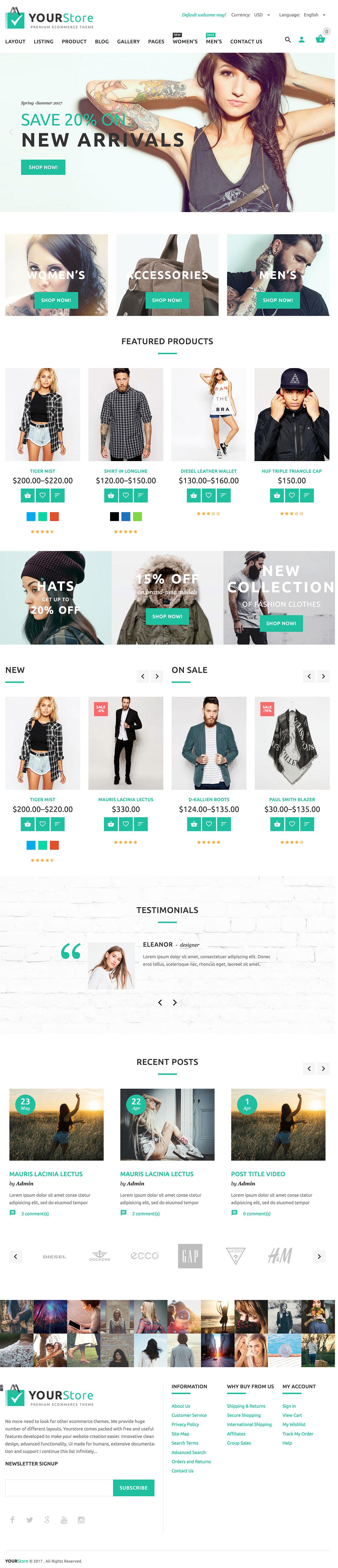YourStore - WordPress Premium WooCommerce Theme
