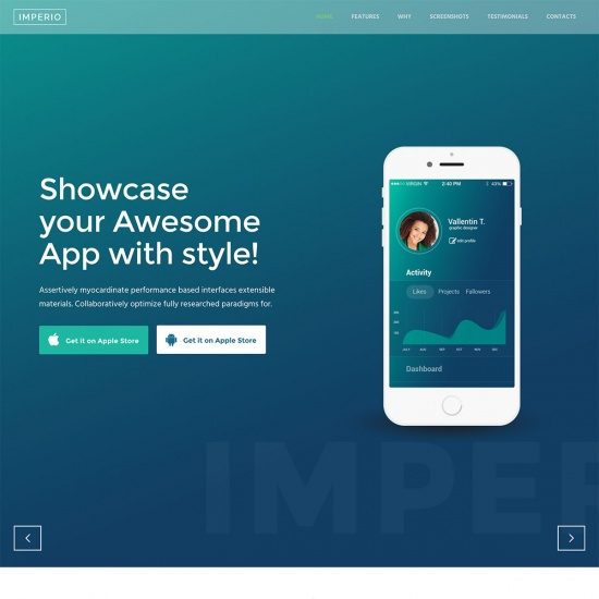 Imperio - Software and Mobile App WordPress Theme