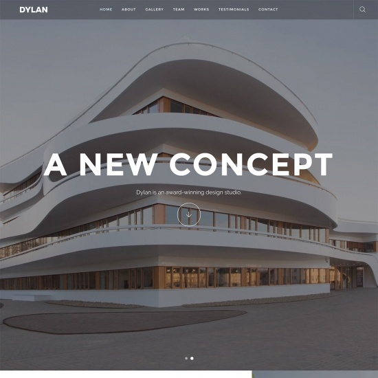 Dylan - Responsive Architect WordPress Theme