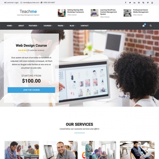 Teachme - Learning Management System WordPress Theme