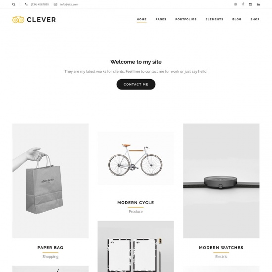 Clever - Creative Portfolio WordPress Theme