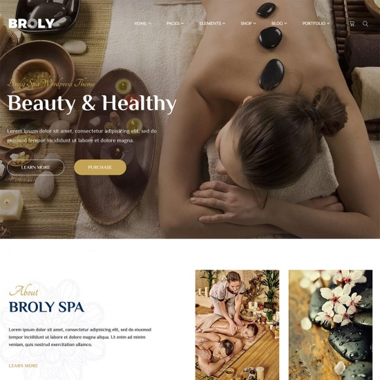 Broly - Spa WordPress Theme
