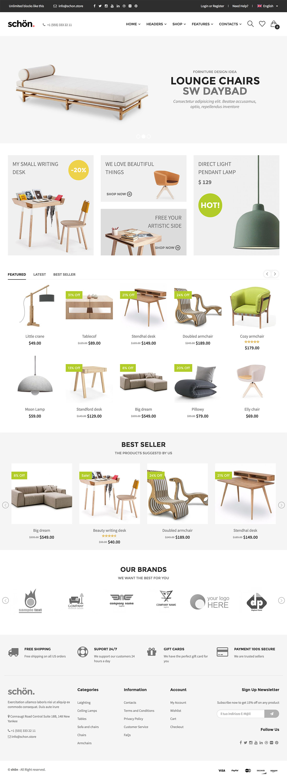 Schön - Modern, Clean & Responsive WooCommerce Theme