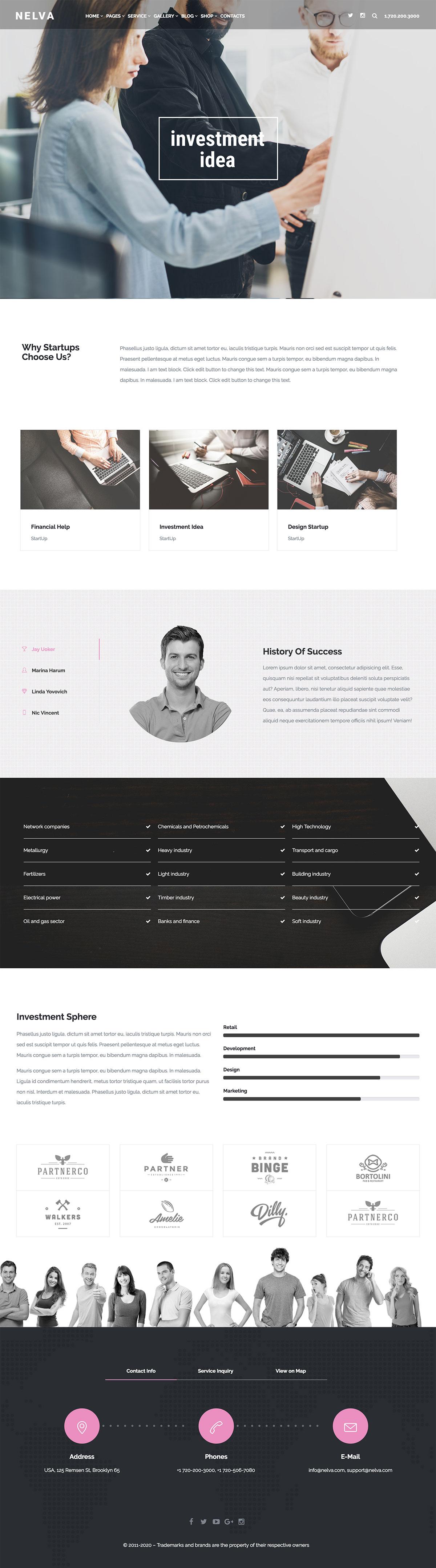 Nelva - Startup Business WordPress Theme