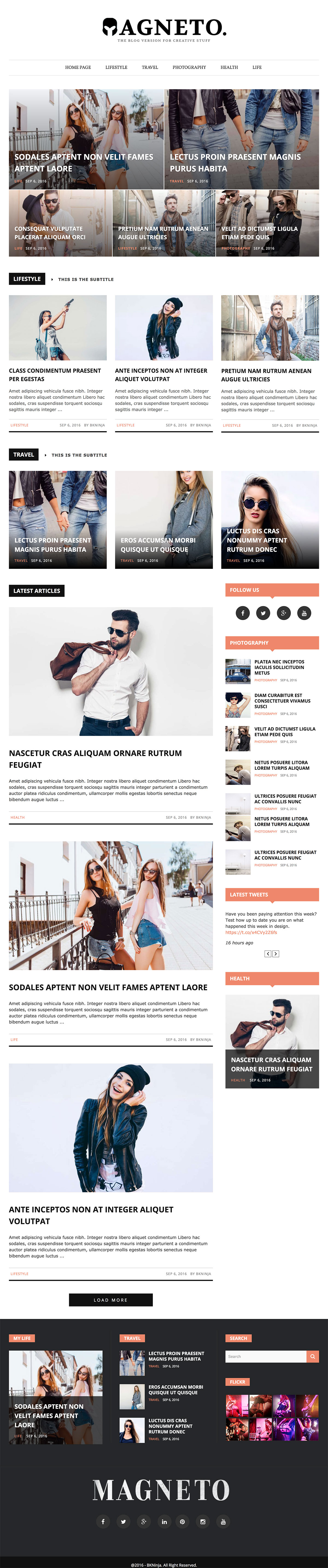 Magneto - Newspaper WordPress Theme