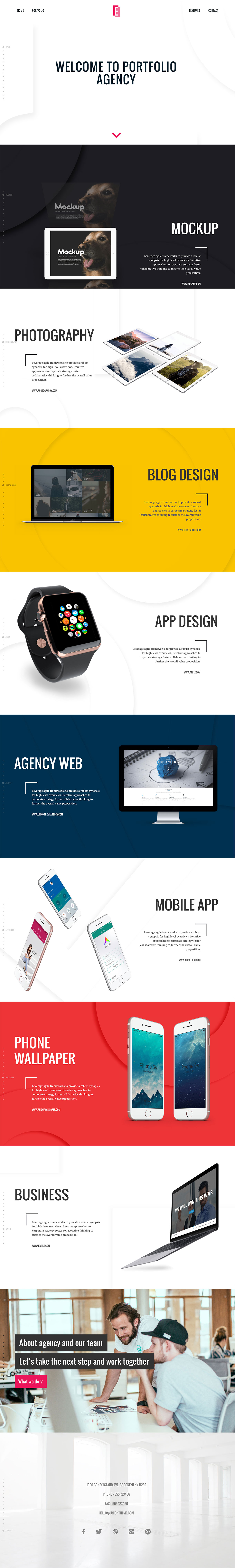 Epoch - FullScreen Agency WordPress Theme